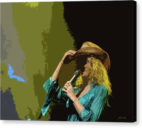 Cowgirl  Entertainer Canvas Print