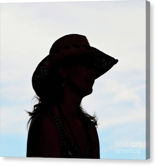Cowgirl In The Sky Canvas Print