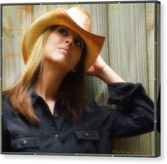 Cowgirl  Canvas Print by Linda Ebarb