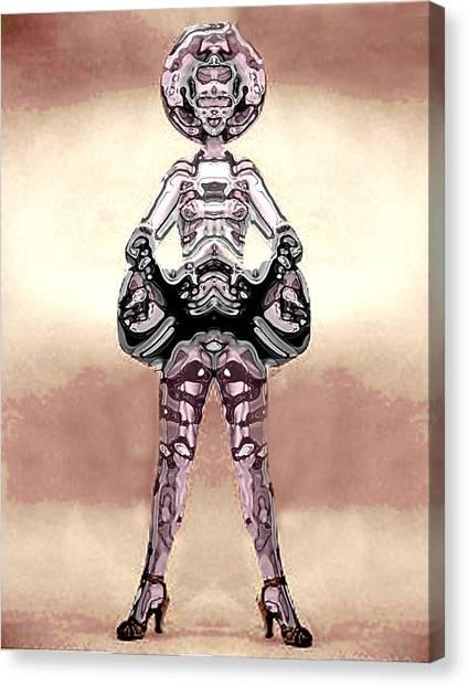 Cowgirl Canvas Print by Peter Lloyd