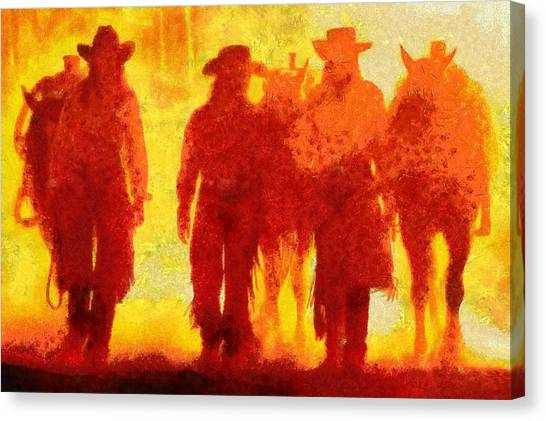 Cowpeople Canvas Print