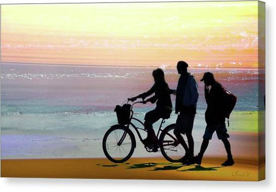 Cox Bay Bike Canvas Print