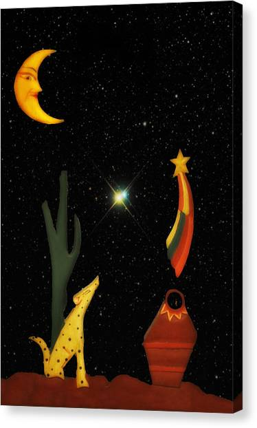 Shooting Stars Canvas Print - Coyote Moon by Bill Cannon