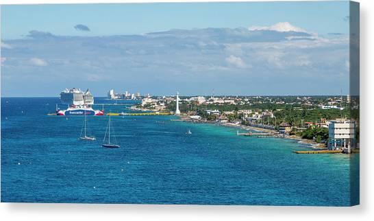 Carribbean Canvas Print - Cozumel Coastline by Betsy Knapp