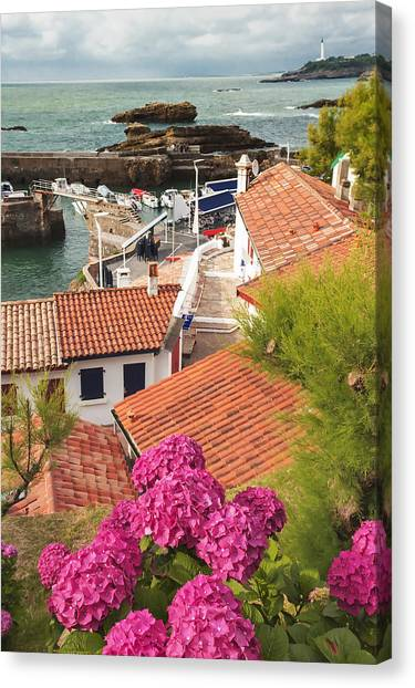 cozy tourist town on the Bay of Biscay Canvas Print