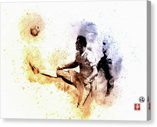 Wayne Rooney Canvas Print - CR7 by Don Kuing