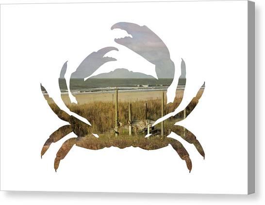 Crab Beach Canvas Print
