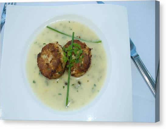 Crab Cakes Canvas Print