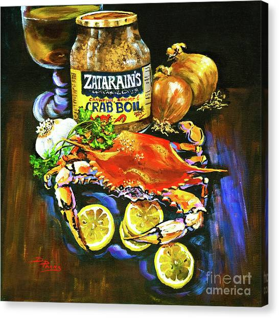 Food Canvas Print - Crab Fixin's by Dianne Parks