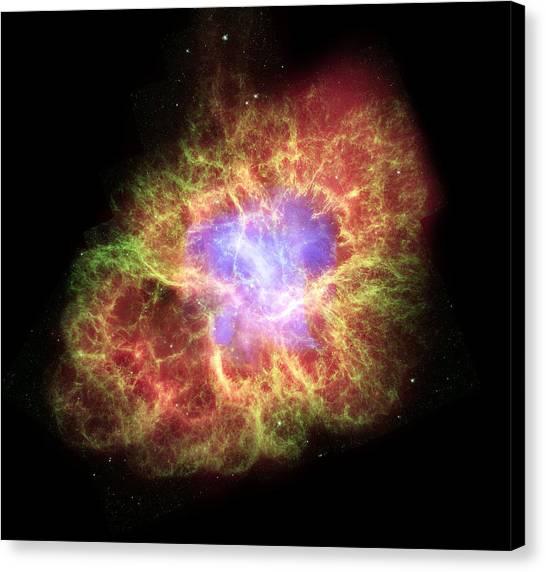Pulsar Canvas Print - Crab Nebula, Composite Image by Nasacxcesaasu