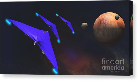 Stellar Canvas Print - Crab Nebula by Corey Ford