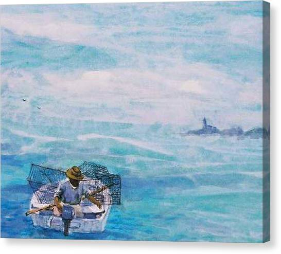 Crab Traps Canvas Print by Ruth Mabee