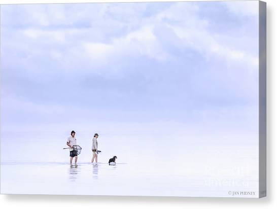 Crabbing Canvas Print - Crabbers by Jan Pudney
