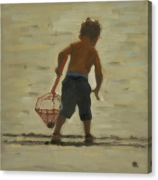 Crabin At The Beach Canvas Print