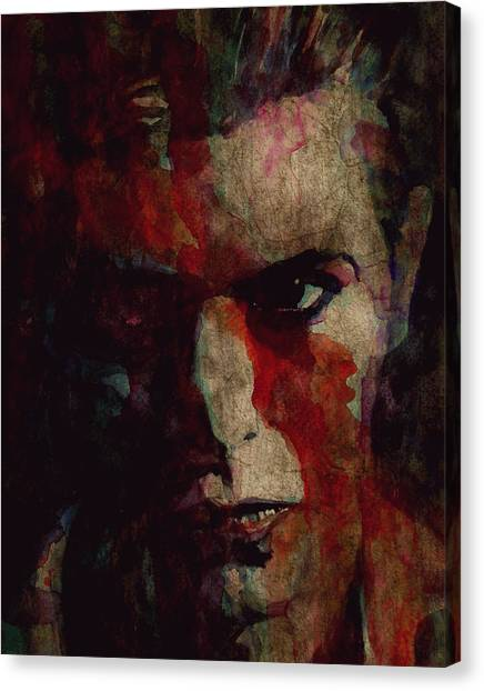 David Bowie Canvas Print - Cracked Actor by Paul Lovering