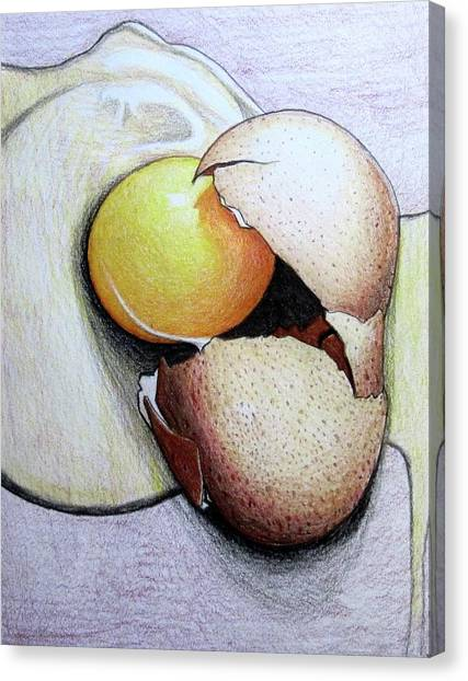 Cracked Egg Canvas Print