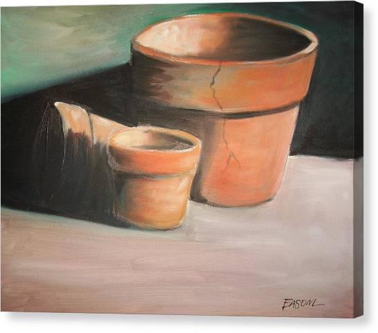 Cracked Pots Canvas Print by Scott Easom