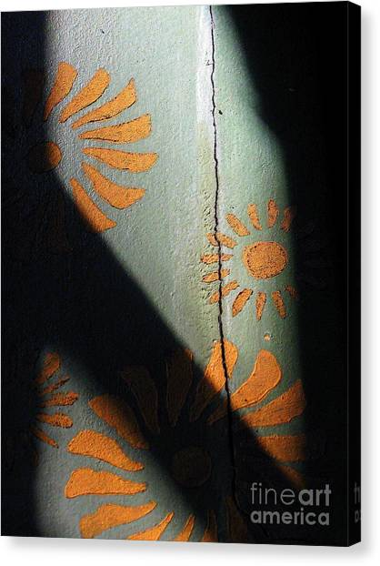 Cracked Wall Canvas Print by Maria Scarfone