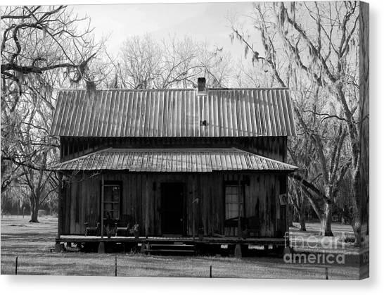 Homestead Canvas Print - Cracker Cabin by David Lee Thompson