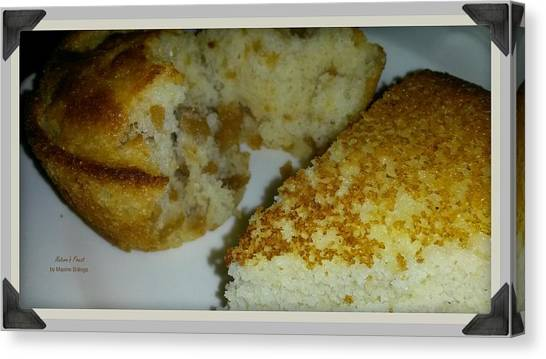 Cornbread Canvas Print - Crackling Or Plain? by Maxine Billings