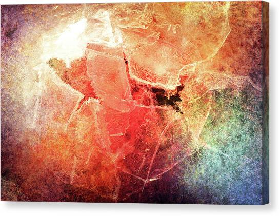 Cracks Of Colors Canvas Print