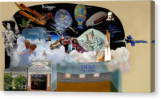 Cradle Of Aviation Museum Imax Theatre Canvas Print