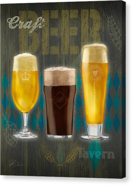 Craft Beer Canvas Print - Craft Beer by Shari Warren