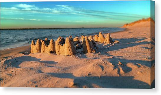 Sandcastle Canvas Print - Crafted With Care By Tiny Hands by Betsy Knapp