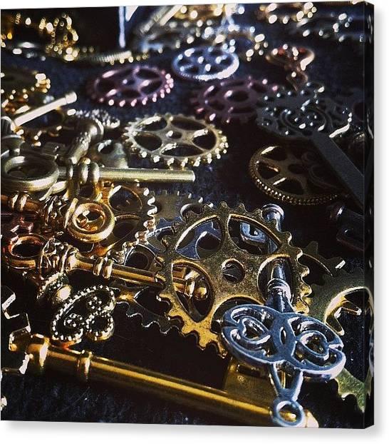 Steampunk Canvas Print - Crafting Steampunk Soon #steampunk by Landlubber ChubbyNinja