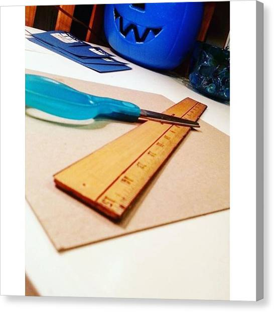 Rulers Canvas Print - Crafty Kind Of Day #fall #crafts by Ashleigh Jenkinson