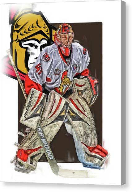 Ottawa Senators Canvas Print - Craig Anderson Ottawa Senators Oil Art by Joe Hamilton