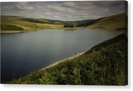 Moorland Canvas Print - Craig Goch Reservoir Elan Valley by Nigel Jones