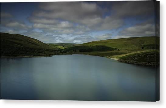 Moorland Canvas Print - Craig Goch Reservoir by Nigel Jones