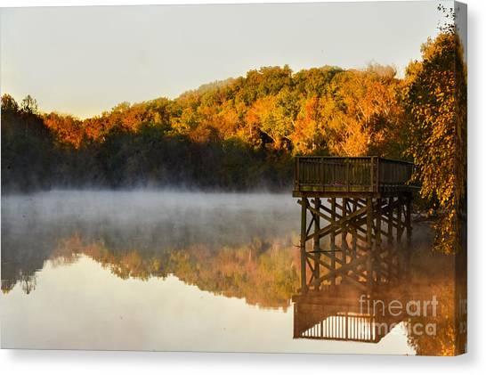 Gaston County Canvas Print - Cramerton Sunrise by Riley Lewis
