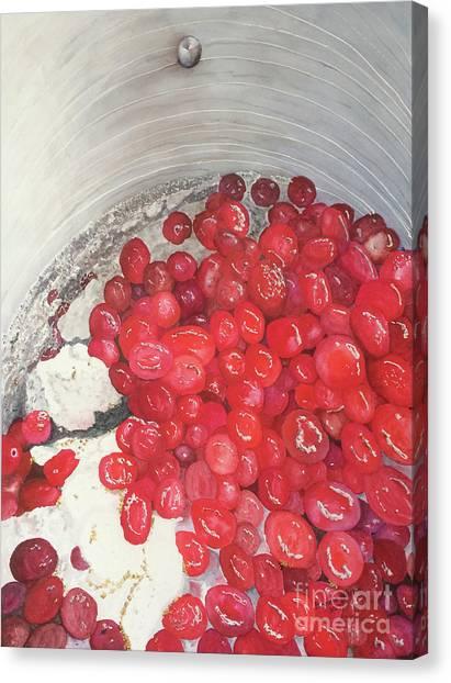 Cranberry Sauce Canvas Print - Cranberry Sauce by Bonnie Young