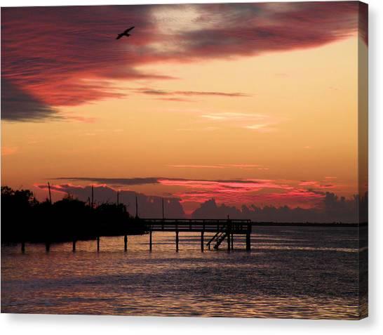 Cranberry Sunset Canvas Print by Rosalie Scanlon