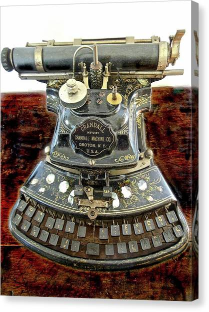 Crandall Type Writer 1893 Canvas Print