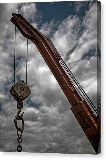 Canvas Print - Crane And Chain by Murray Bloom
