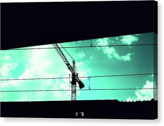 Crane And Shadows Canvas Print