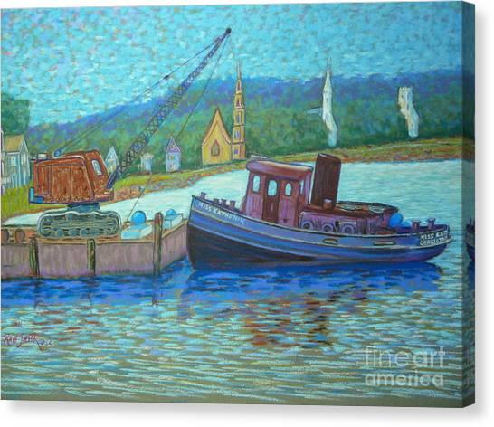 Cranes And Spires Canvas Print