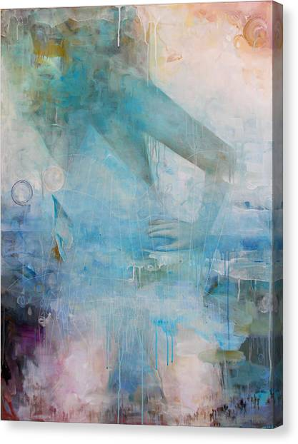 Contemporary Canvas Print - Crane's Beest by Sandra Cohen