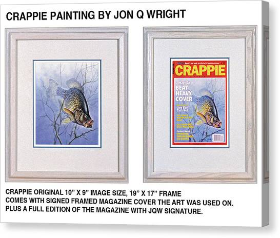 Crappie Magazine And Original Canvas Print by JQ Licensing