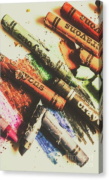 Relief Canvas Print - Crash Test Crayons by Jorgo Photography - Wall Art Gallery