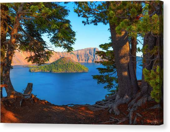 Crater Lake Early Dawn Scenic Views Ix Canvas Print