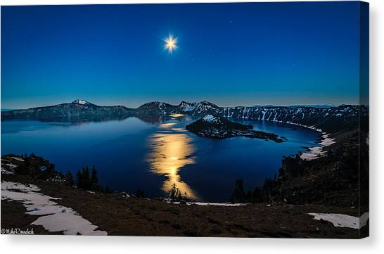 Crater Lake Moonlight Canvas Print