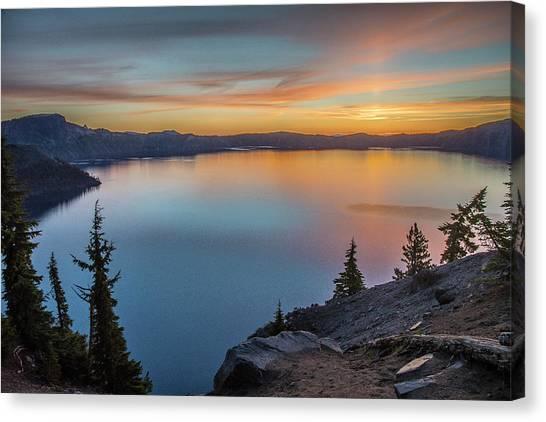Crater Lake Morning No. 1 Canvas Print