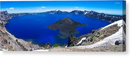 Crater Lake National Park Panoramic Canvas Print
