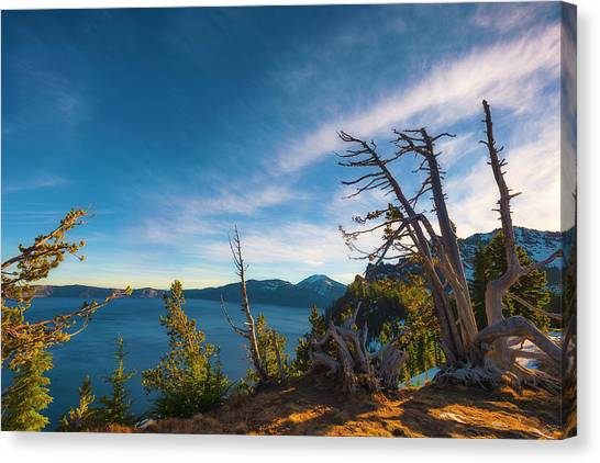 Crater Lake Early Dawn Scenic Views V Canvas Print