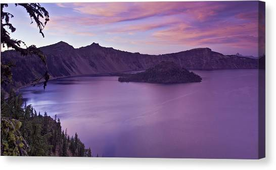 Crater Lake Sunset Canvas Print