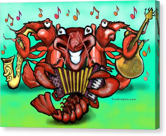 Crawfish Band Canvas Print